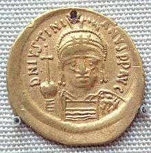 Gold_coin_of_Justinian_I_527CE_565CE_excavated_in_India_probably_in_the_south